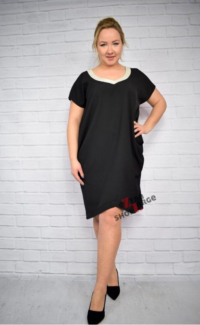Elegancka czarna sukienka Inna TY rozmiar XXL